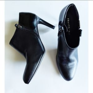 Franco Sarto Shoes, Black Ankle Zip Boot